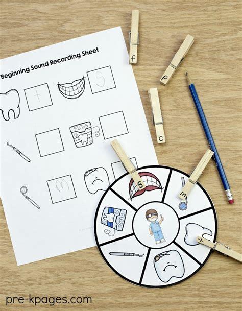 dental health theme activities for preschool 415 | Dental Health Beginning Sounds Activity