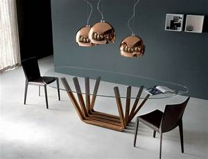 Table Verre Bois : table manger verre et bois ~ Teatrodelosmanantiales.com Idées de Décoration