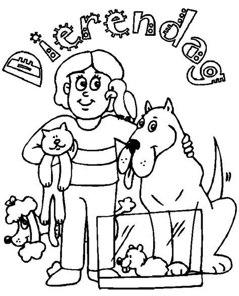 Kleurplaat Dierendag by Dierendag Kleurplaten Huisdieren