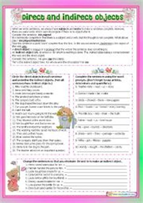 English Worksheet Direct And Indirect Objects