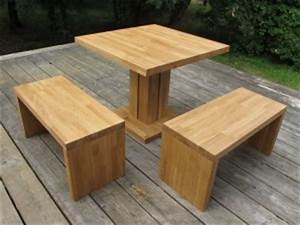 Table Banc Exterieur : bancs tabourets en bois massif flip design boisflip design bois ~ Teatrodelosmanantiales.com Idées de Décoration