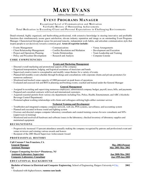 conference manager resume conference manager resume resume