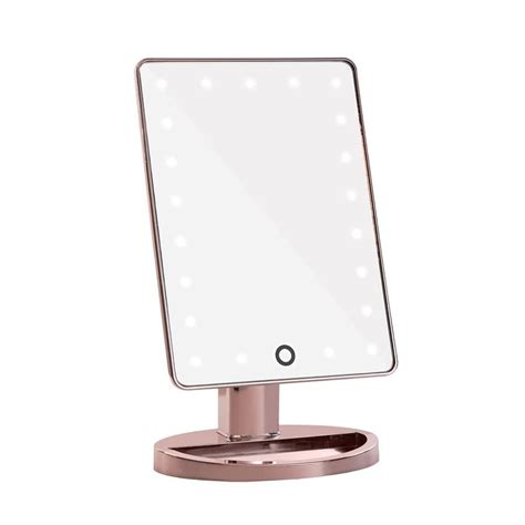 makeup light mirror touch 2 0 dimmable led makeup mirror in chrome