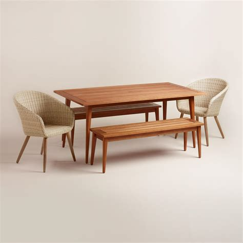 mid century style outdoor dining collection world