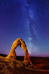 Moab Utah Arches National Park Milky Way