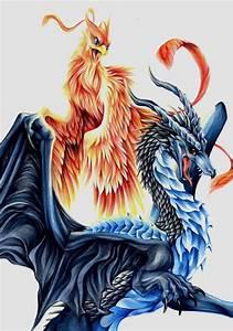 dragon vs phoenix - Cerca con Google | Phoenix dragon ...