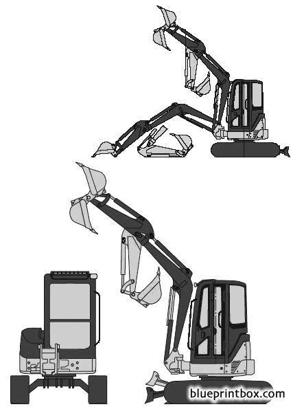 john deere  excavator blueprintboxcom  plans  blueprints  cars trailers ships
