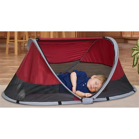Kidco Peapod Travel Bed by Kidco Peapod Travel Bed Cranberry P3010 Clearance