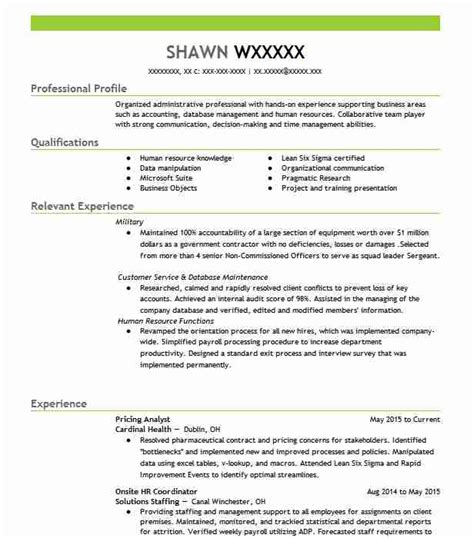 pricing analyst resume sle accountant resumes
