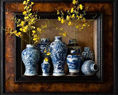 Chinese Vase Flowers Yellow Vases Wallpapers Oriental