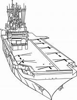 Coloring Carrier Aircraft Drawing Draw Military Airplane Carriers Navy Ship Drawings Step Line Easy Printable Planes Awesome Dragoart Getdrawings Pencil sketch template