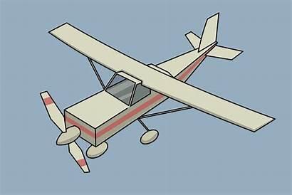 Airplane Draw Clipart Biplane Tekenen Vliegtuig Plane