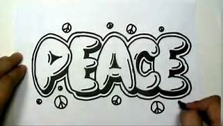 How To Write Cool Letters On Paper In Graffiti Letters Write Peace In Bubble Letters MAT YouTube