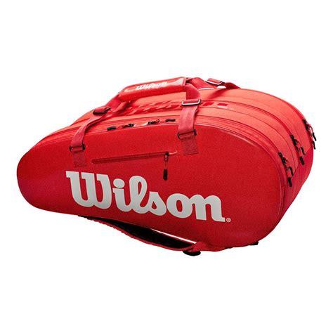 wilson super   compartment tennis bag  infrared tennis express
