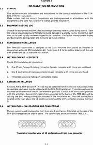 Technisonic Tfm Fm Transceiver User Manual D Pdf