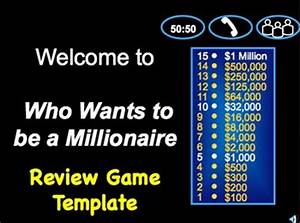 who wants to be a millionaire class review game template With who want to be a millionaire template powerpoint with sound