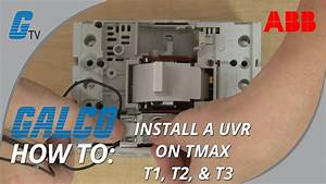 Abb Tmax Enclosed Circuit Breakers - Installing An Under-voltage Release