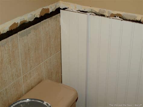 Goodbye Old Tilebeadboard Over Tile Bathrooms