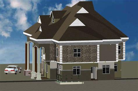 architectural building plan design  bungalow house  bedroom modern duplex