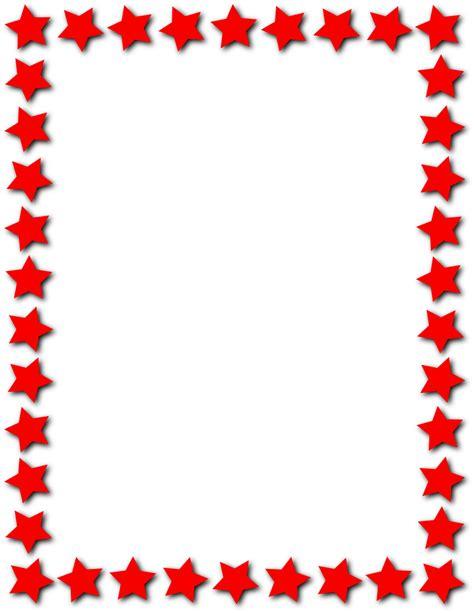 cornici lettere da stare frame page frames star border star frame red