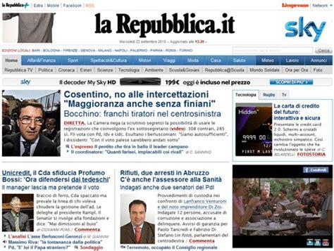 Quotidiani Più Letti repubblica it sul tetto dell informazione tom s