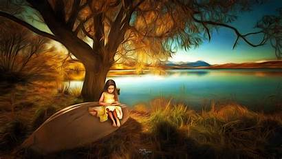 Fantasy Children Nature Landscape Poster Wallpapers Libro