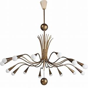 Brass modern chandelier at stdibs