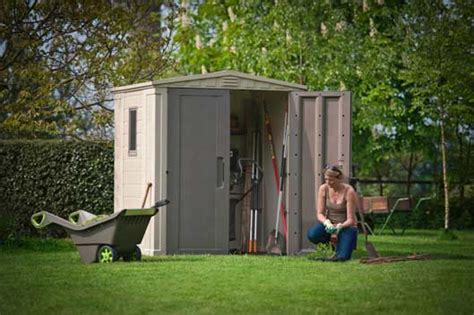 Keter 6x6 Shed by Keter Gemini Factor Plastic Garden Shed With Doors