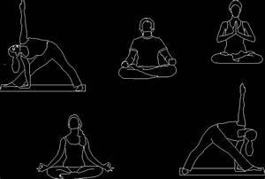 Guests - Yoga 2D DWG Block for AutoCAD • Designs CAD
