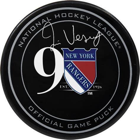 jimmy vesey signed  york rangers  anniversary logo
