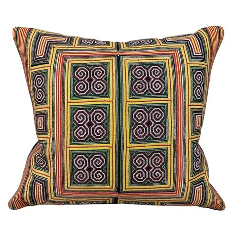 Small Miao Collar Cushion In Green Yellow Cushions