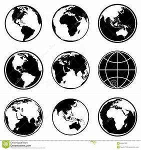 Set Of Earth Planet Globe Icons. Vector. Stock Vector ...