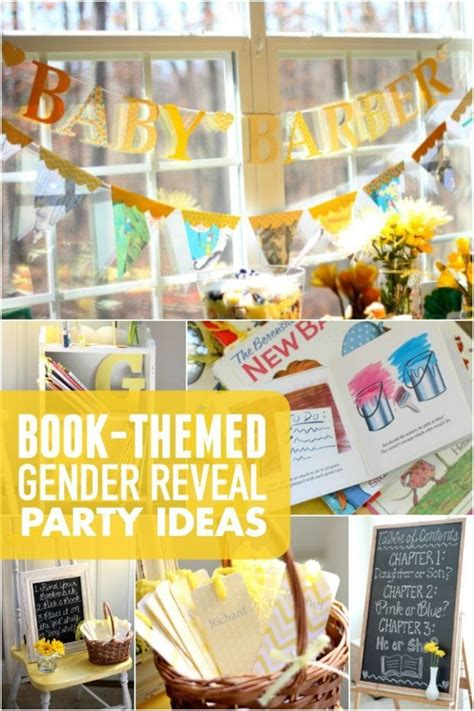 book themed gender reveal party spaceships  laser beams