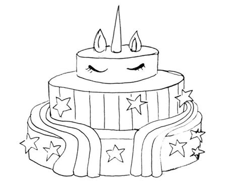 unicorn cake coloring pages  boys  printable coloring pages