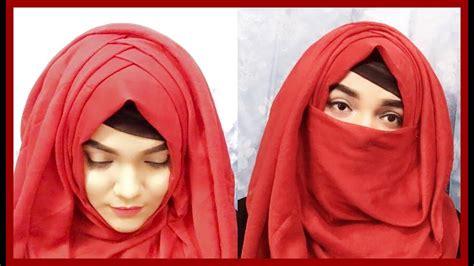 criss cross hijab style  neqaab mutahhara youtube