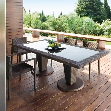 outdoor furniture tables only st tropez outdoor wicker dining table and chairs modern
