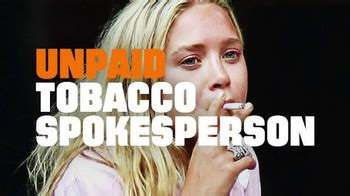 truth tv commercial unpaid tobacco spokesperson song