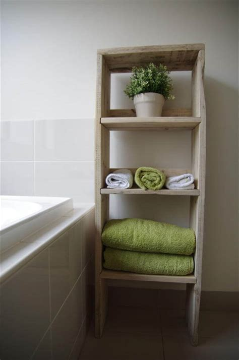 diy pallet wood bookcase bathroom storage unit pallet