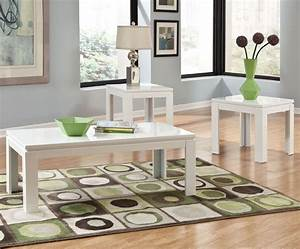 standard furniture outlook 3 piece coffee table set in With 3 piece white coffee table set