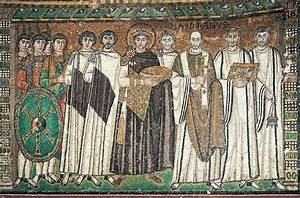 Justinian, Bishop Maximianus, and Attendants, from San Vitale