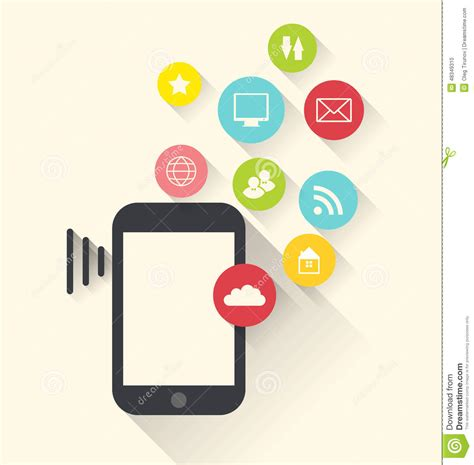 black modern smartphone with application icons on the smartphone device with applications app icons modern