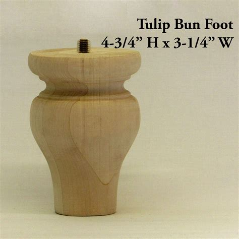 tulip bun foot pair capitol city lumber