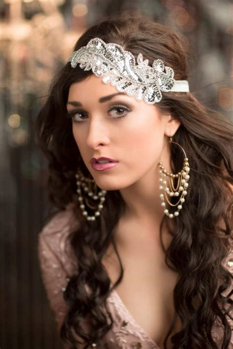 20s Prom Hairstyles by Roaring 20s Flapper Headband Silver Gatsby Headpiece