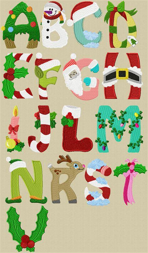 christmas alphabet appliques   christmas