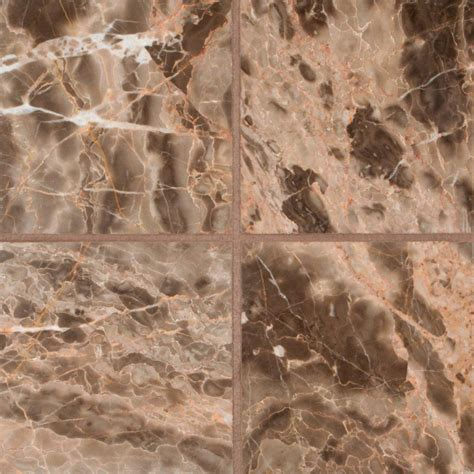 Home Depot Canada Marble Tile by Msi Ulc Em Ador Cafe 6 In X 6 In Polished Marble