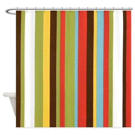 Bold Shower Curtain by Bold Retro Colorful Stripes Shower Curtain By