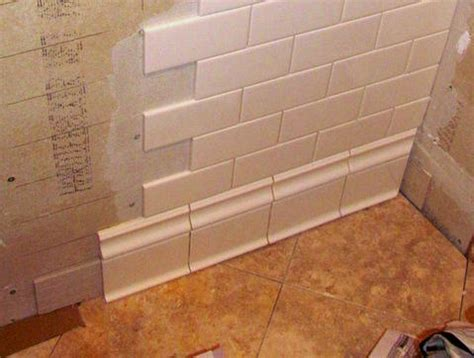 baseboard tiles  cove caulk