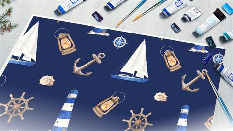nautical set watercolor nautical watercolor watercolor