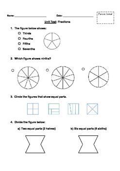 fractions unit test grade    ms hamilton teachers