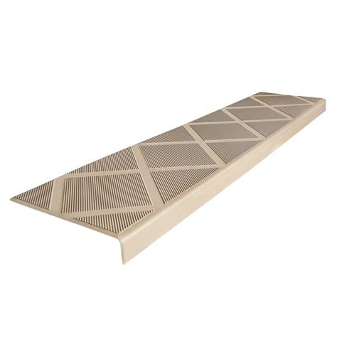composigrip composite anti slip stair tread 48 in beige